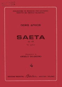 Saeta, op.53 available at Guitar Notes.