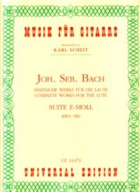Suite in e minor, BWV996 (Scheit) available at Guitar Notes.