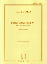 Danse Espagnole no.1(Pujol 1401) available at Guitar Notes.
