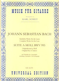 Suite in a minor, BWV995(Scheit) available at Guitar Notes.