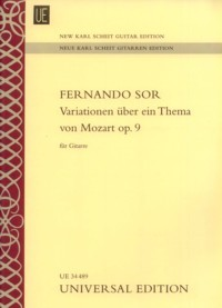 Variations on a theme of Mozart, op.9(New Karl Scheit Edition) available at Guitar Notes.