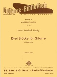 Three Pieces: Capriccio op.26.1 available at Guitar Notes.
