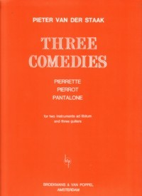 Three Comedies [2 Mel/3 Gtr] available at Guitar Notes.