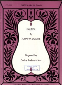 Partita, op.59 available at Guitar Notes.