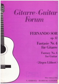 Fantasie no.4 op.12 (Libbert) available at Guitar Notes.