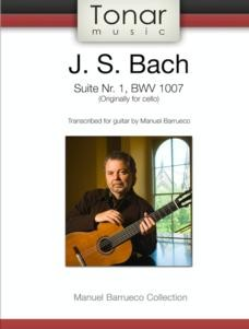 Suite No.1, BWV1007(Barrueco) available at Guitar Notes.