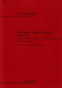 Prelude, Fugue & Allegro, BWV998(Fisk) available at Guitar Notes.