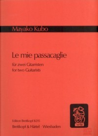 Le mie passacaglie available at Guitar Notes.