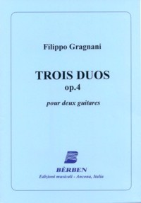 3 Duos, op.4 available at Guitar Notes.