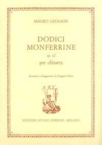Dodici Monferrine, op.12(Chiesa) available at Guitar Notes.