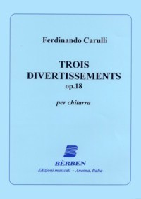 Trois Divertissements, op.18 available at Guitar Notes.