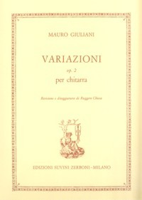 Variazioni, op.2(Chiesa) available at Guitar Notes.