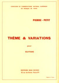 Theme et variations(Ghirardi) available at Guitar Notes.