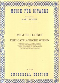 Three Catalan Folksongs(Scheit) available at Guitar Notes.