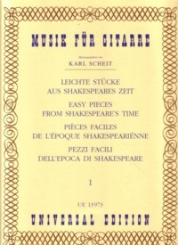 Easy Pieces from Shakespeare's Time, Vol.1 available at Guitar Notes.