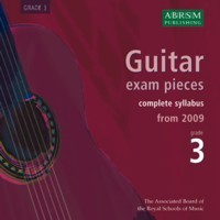 Recordings of Guitar Exam Pieces, Grade 3 available at Guitar Notes.