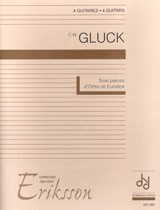 Three  Pieces d'Orfeo et Euridice(Eriksson) available at Guitar Notes.