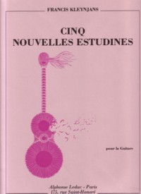 Cinq Nouvelles Estudines, op.40 available at Guitar Notes.