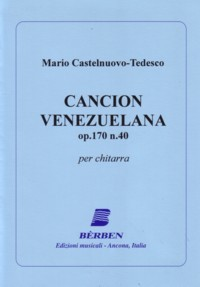 Cancion Venezolana, op.170/40 available at Guitar Notes.