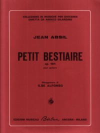 Petit  Bestaire, op.151 available at Guitar Notes.