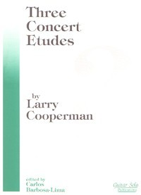 Three Concert Etudes available at Guitar Notes.