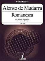Romanesca(Segovia) available at Guitar Notes.