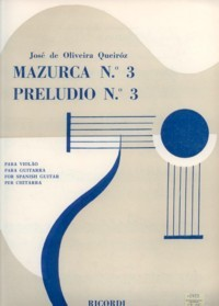 Mazurca no.3; Preludio no.3 available at Guitar Notes.