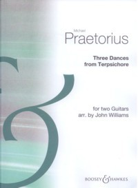 Three Dances for two guitars(Williams) available at Guitar Notes.