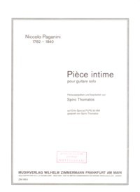 Piece intime(Thomatos) available at Guitar Notes.