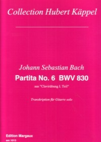 Partita no.6 BWV830(Kappel) available at Guitar Notes.