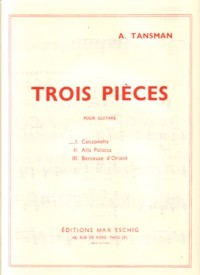 Trois Pieces: Canzonetta available at Guitar Notes.