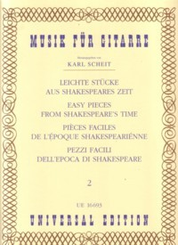 Easy Pieces from Shakespeare's Time, Vol.2 available at Guitar Notes.