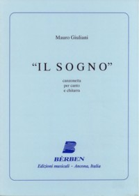 Il Sogno,canzonetta available at Guitar Notes.