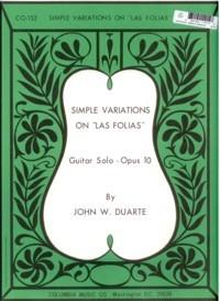 Simple variations on Las Folias, op.10 available at Guitar Notes.