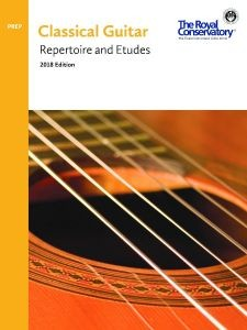 Classical Guitar Repertoire and Etudes 2018 Preparatory available at Guitar Notes.
