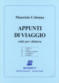 Appunti di viaggio, suite available at Guitar Notes.