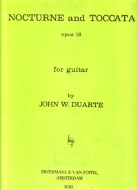 Nocturne & Toccata, op.18 available at Guitar Notes.