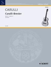Carulli-Brevier: Selected Works, Vol.3 available at Guitar Notes.