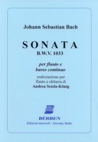 Sonata, BWV1033(Sciola-Konig) available at Guitar Notes.