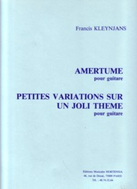 Amertume; Petites Variations available at Guitar Notes.