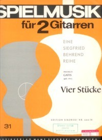 Vier Stucke(Behrend) available at Guitar Notes.