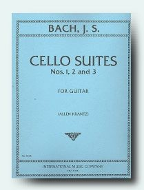 Cello Suites no.1-3 (Krantz) available at Guitar Notes.