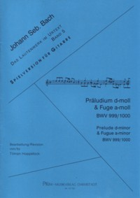 Prelude BWV999; Fugue BWV1000 (Hoppstock) available at Guitar Notes.