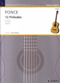12 Preludes(Segovia) available at Guitar Notes.