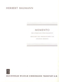 Memento [2Vn/Va/Vc/Gtr] available at Guitar Notes.