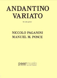 Andantino variato on a theme of Paganini available at Guitar Notes.