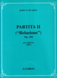 Partita no.2, op.104 'Relazione' available at Guitar Notes.