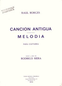 Cancion antigua; Melodia available at Guitar Notes.