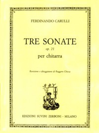 Tre Sonate, op.21(Chiesa) available at Guitar Notes.