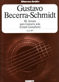 Sonata III available at Guitar Notes.